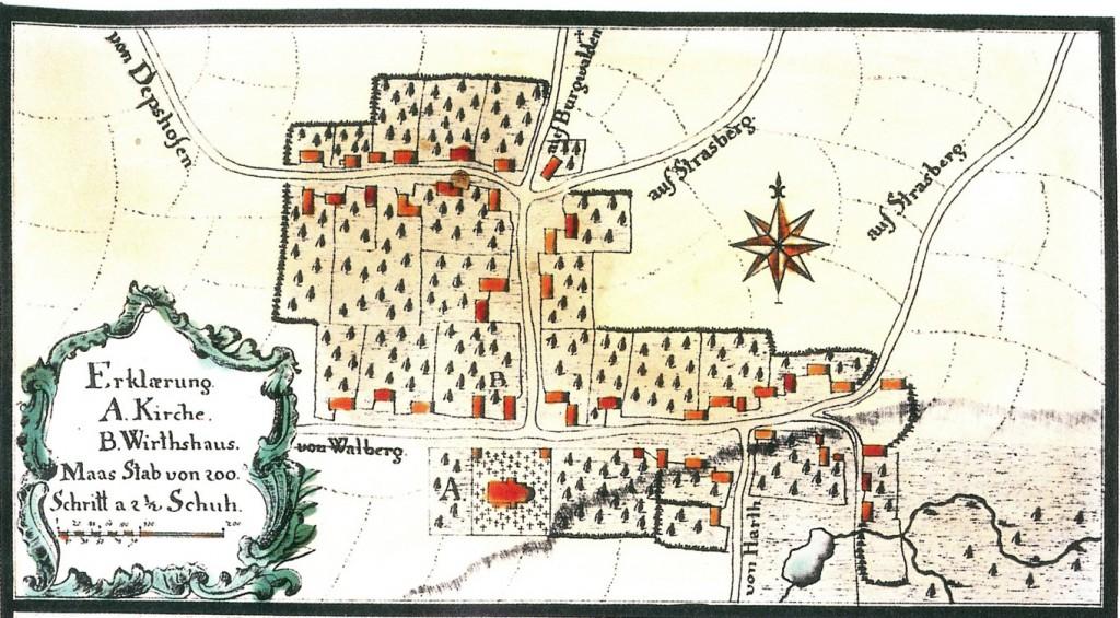 Reinhartshausen im Jahre 1750