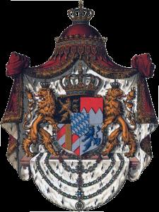 """""""Großes Staatswappen des Königreichs Bayern"""". - Quelle: http://www.hot.ee/wappenrolle/777BayernGMW.jpg"""